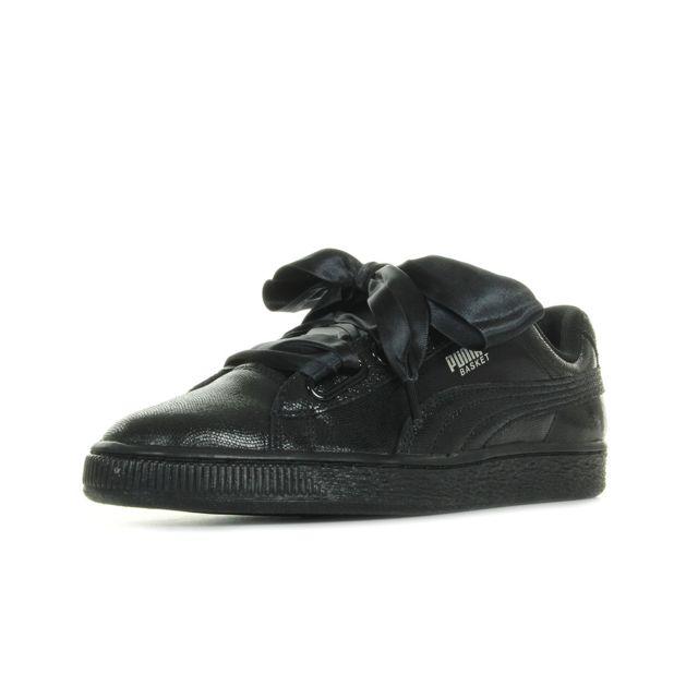 Femme Puma Basket Heart Ns Chaussures De Baskets Puma Noir