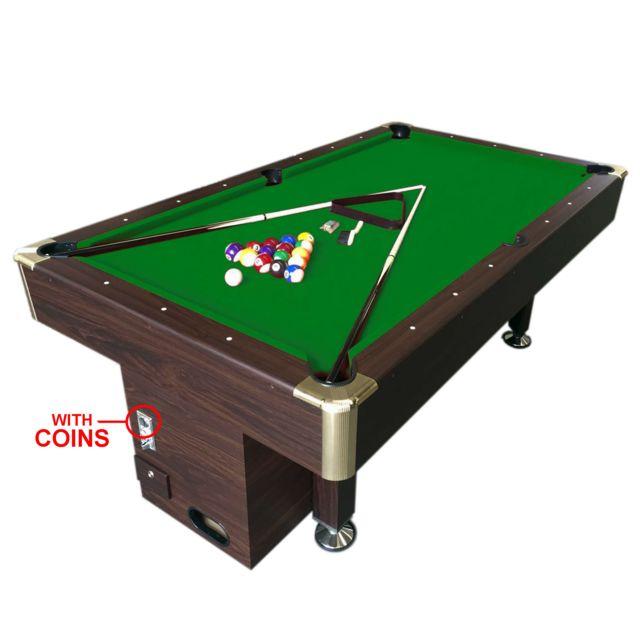 Simba billard americain 7 ft apollo table de billard avec un monnayeur lectronique snooker - Table de billard dimension ...
