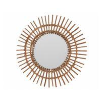 Decoris - Miroir soleil en bois D.55cm Lucie