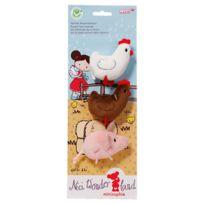 Neotilus - Set 3 animaux de la ferme Minisophie