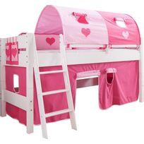 lit enfant mi hauteur achat lit enfant mi hauteur pas cher rue du commerce. Black Bedroom Furniture Sets. Home Design Ideas