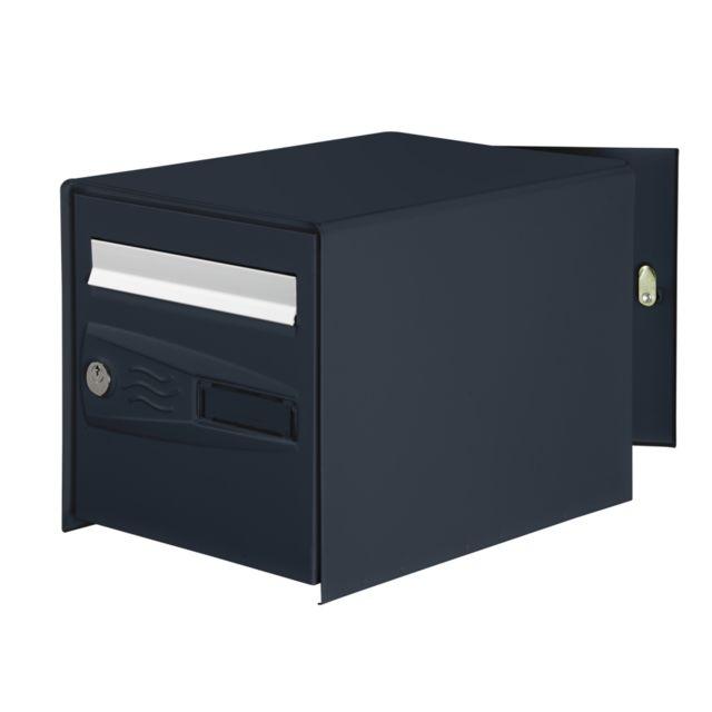 bricorama boite aux lettres double face grise pas cher. Black Bedroom Furniture Sets. Home Design Ideas