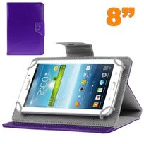 Yonis - Housse tablette 8 pouces universelle support etui protection Violet