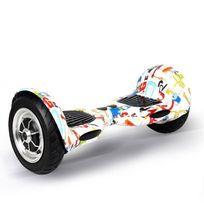 Hoverboard 10 pouces skate électrique Gyropode 36V Blanc