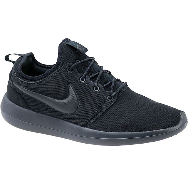 newest 6805b c0ffa Nike - Roshe Two Triple 844656-001 Homme Baskets Noir - pas cher Achat    Vente Baskets homme - RueDuCommerce