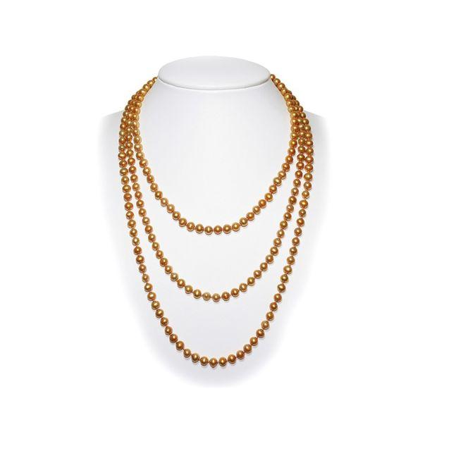 f0cc11cf9fe Blue Pearls - Long Collier Sautoir Femme en Perles de culture d eau douce de