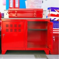 meuble metal rouge - Achat meuble metal rouge pas cher - Rue du ...