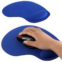 Yonis - Tapis de souris repose poignet de qualité ergonomique ultra fin bleu