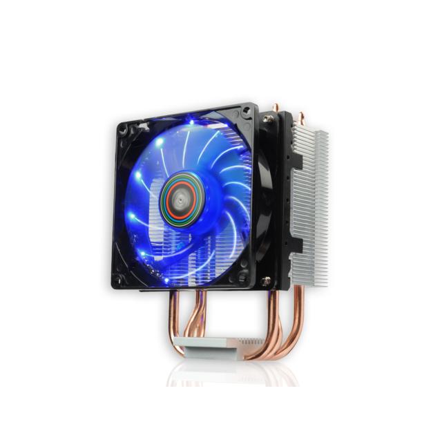 ENERMAX Ventirad pour processeur ETS-N30II LED Ventirad Enermax ETS-N30-II LED - Ventilateur de 9cm PWM LED Bleu - Capacité de refroidissement 150W TDP - Support Intel et AMD.