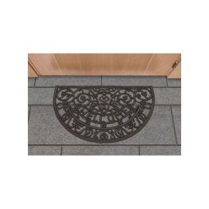 UN AMOUR DE TAPIS - Tapis Paillasson TANKIET DEMI CERCLE noir Tapis Moderne 45 x 75 cm noir 45 x 75 cm