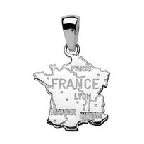 Sochicbijoux - So Chic Bijoux © Pendentif France Carte Grande Taille ... 86ecedf1d2c