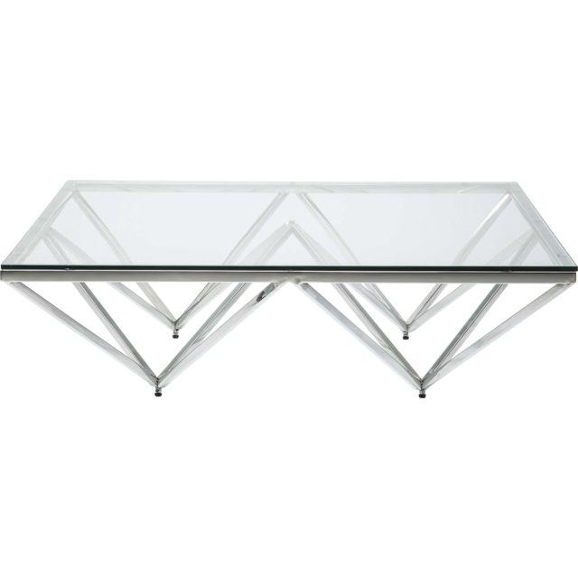 Karedesign Table basse Network argentée 105x105cm Kare Design