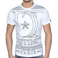 Distinct By Rohff - Distinct - T Shirt Manches Courtes - Homme - Triomphe Tee - Blanc