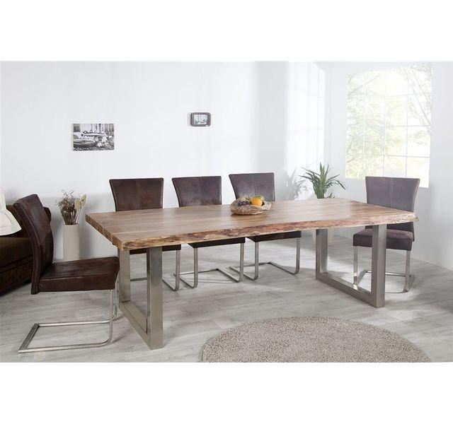 CHLOE DESIGN Table à manger design AKAZIO II - naturel - 200