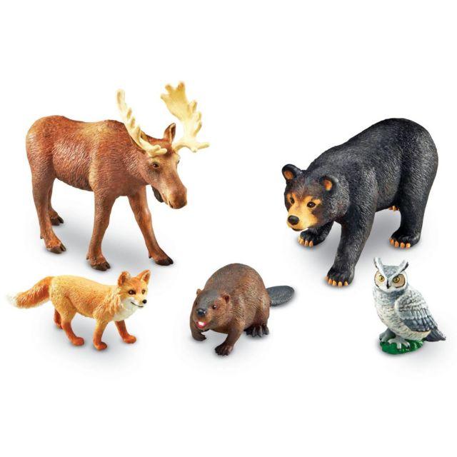 jumbo animaux de la foret - lot de 5 - pas cher Achat   Vente Animaux -  RueDuCommerce 0fc38ea61c2