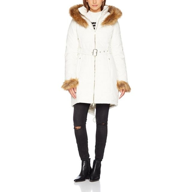 0cd91cbd1fa Guess - Doudoune Femme Sunny Long Blanc rft Taille - Xs - pas cher Achat   Vente  Blouson femme - RueDuCommerce