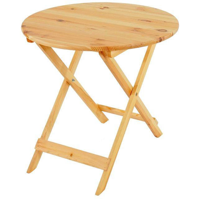 Mendler Table en bois Olbia Ii, table de jardin, table pliable 76x80x80cm, qualité de gastronomie