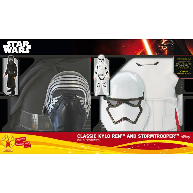 STAR WARS Pack déguisement Kylo Ren et Stormtrooper - taille L - ST-620397L