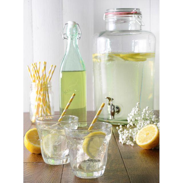 Kilner - Distributeur de boisson en verre avec joint hermétique Drinking - Transparent - 5L