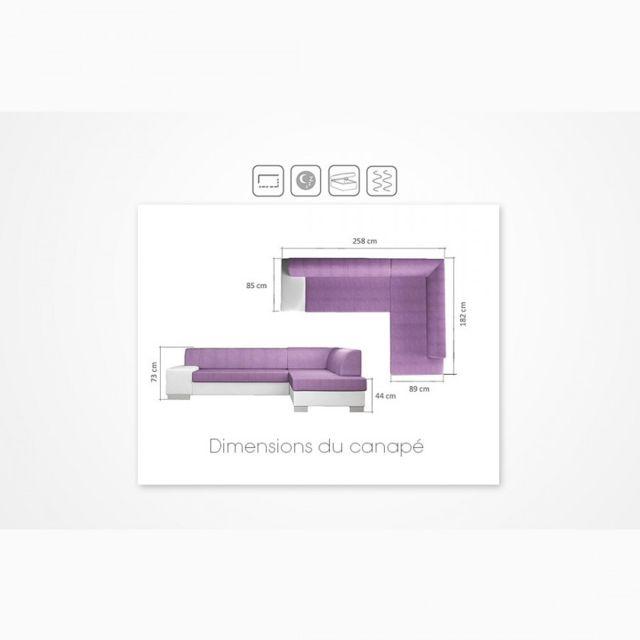 Meubler Design Canapé d'angle droit convertible Galice