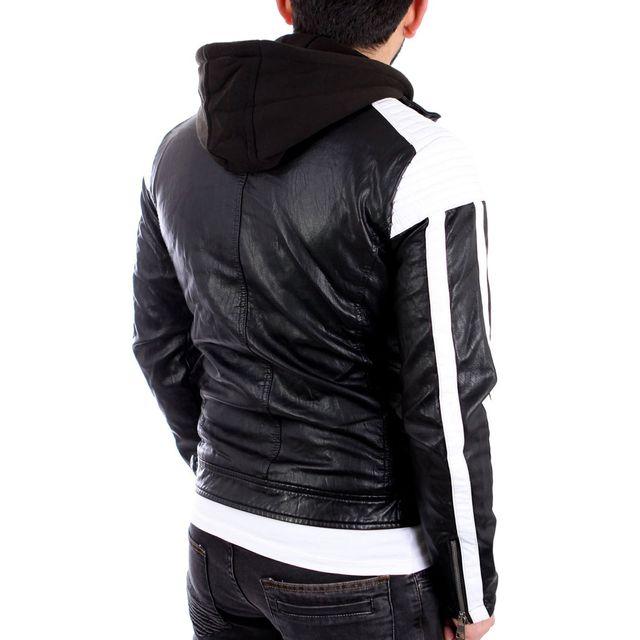 Freeside - Veste cuir fashion homme Veste homme 545 noir