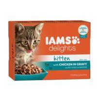 Iams Chat - Iams Delights Humide Poulet en sauce - Toutes Races - 12x85 g - Pour chaton