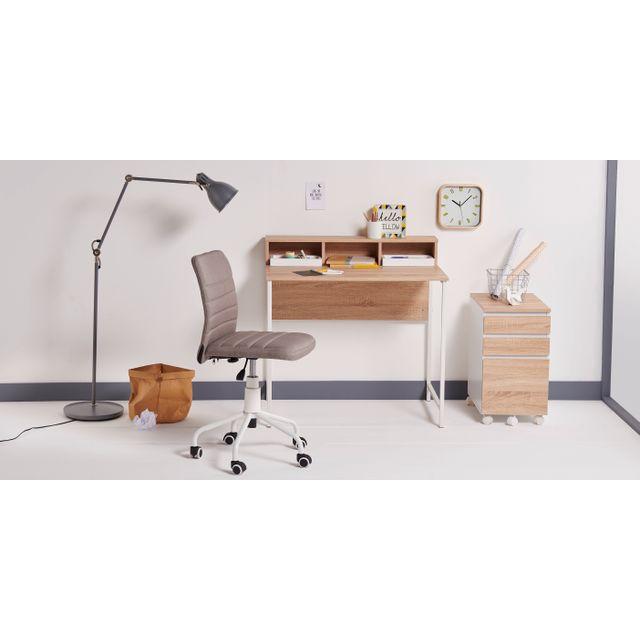 RUE DU COMMERCE - Chaise de bureau - Gris - HERTHA POWDER COA