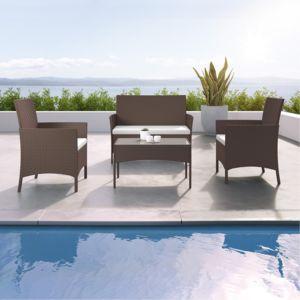 ims garden imora salon de jardin r sine tress e ensemble 4 places canap fauteuil. Black Bedroom Furniture Sets. Home Design Ideas