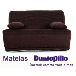 relaxima banquette lit accord on bz chocolat louna matelas mousse dunlopillo 150cm x 91cm x. Black Bedroom Furniture Sets. Home Design Ideas