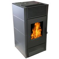 Warm Tech - Poele A Pellets 8Kw - Noir