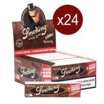 Smoking - Bte De 24 Carnets Feuilles+CARTONS Brown King Size 33F/CARNET