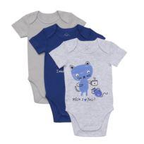 TEX - Lot de 3 Bodies bébé en coton
