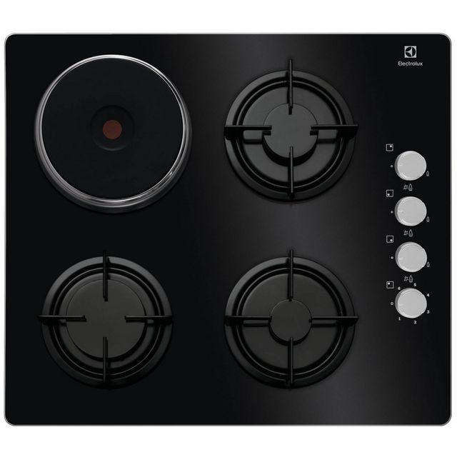electrolux table de cuisson mixte 58cm 4 feux noir egl6082nek achat plaque de cuisson mixte. Black Bedroom Furniture Sets. Home Design Ideas