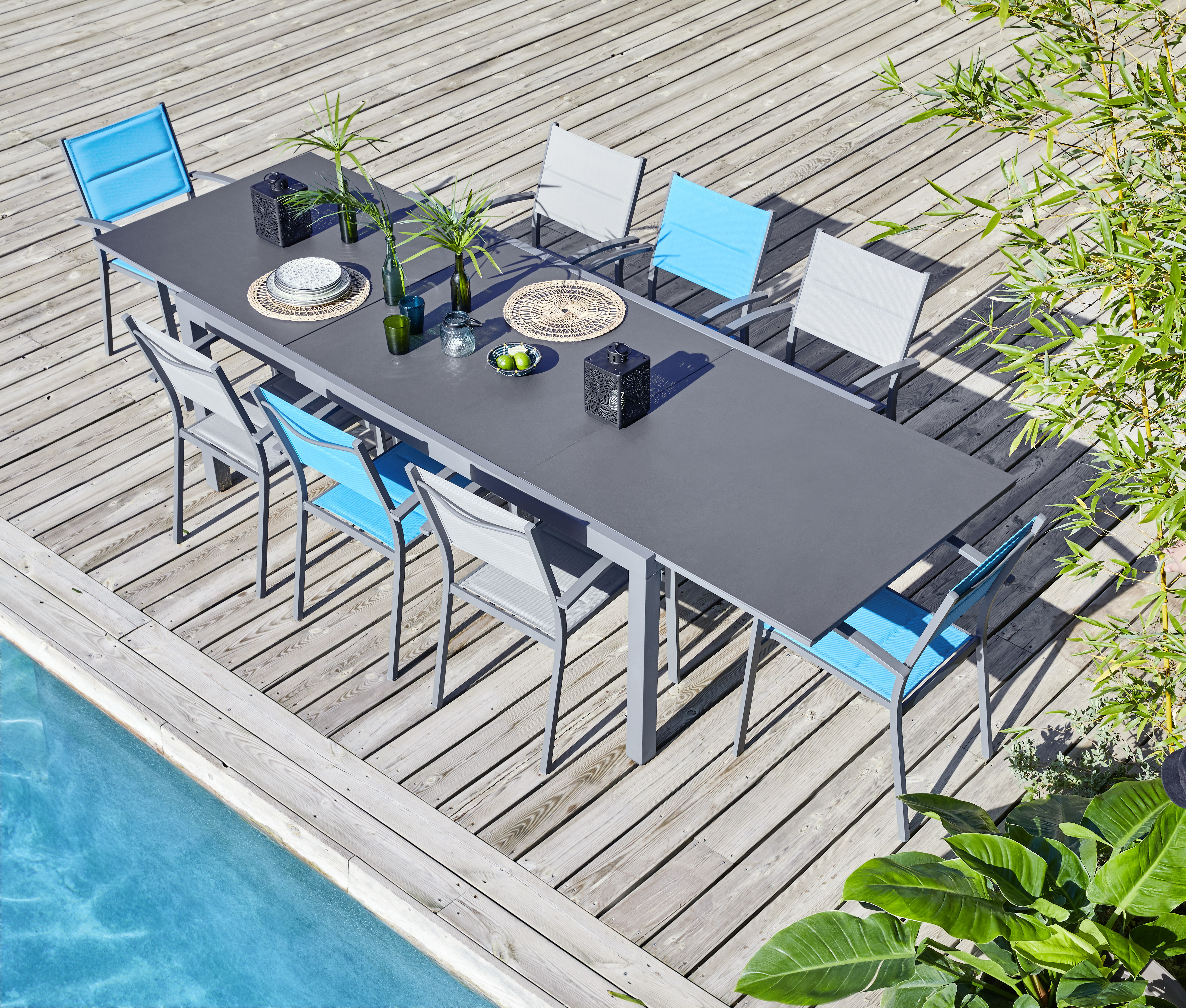 HYBA - Table Canberra extensible 199/298 cm - pas cher Achat / Vente ...