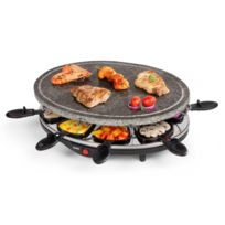 Domo - Appareil à raclette 8 personne - Avec pierre à griller naturelle