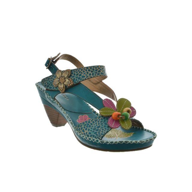 Laura vita - sandales - nu pieds verre bleu 37 - pas cher Achat   Vente  Sandales et tongs femme - RueDuCommerce 4c3da9f2f1e1