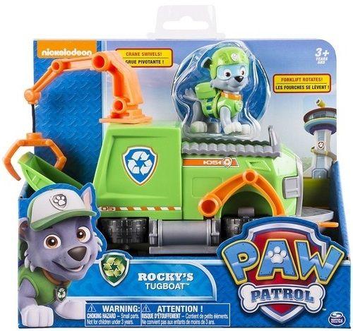 pat patrouille chien rocky camion poubelle figurine et vehicule paw patrol pas cher. Black Bedroom Furniture Sets. Home Design Ideas