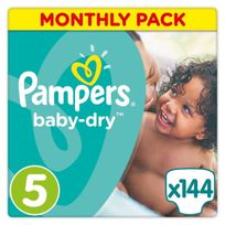 PAMPERS - Baby-Dry - Couches Taille 5 Junior, 11-23kg - 144 couches