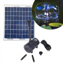 SELLANDE - POMPE SOLAIRE 980L/H POUR BASSIN ET FONTAINE ALIMENTEE PAR PANNEAU SOLAIRE