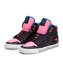 Supra - Sneakers Femme Shoes wmns Vaider Black / Pink / Royal - White