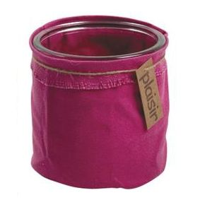 aubry gaspard cache pot en verre et tissu color fuchsia pas cher achat vente poterie bac. Black Bedroom Furniture Sets. Home Design Ideas