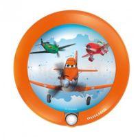 Philips - Veilleuse Planes détecteur Led D9,5 cm - Orange