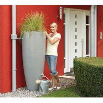 GARANTIA - Récupérateur d'eau 2 en 1 - 300 L - Gris - Bac amovible