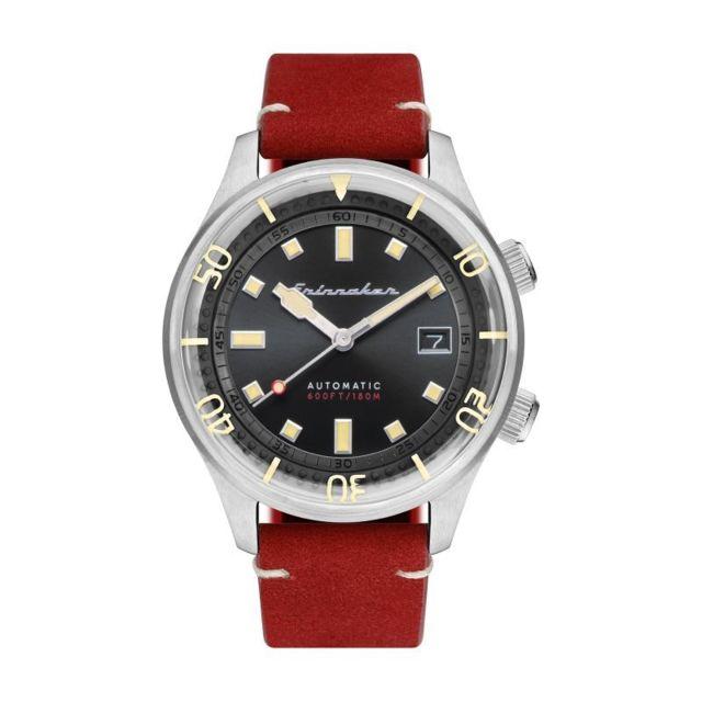 montre homme cadran noir bracelet cuir