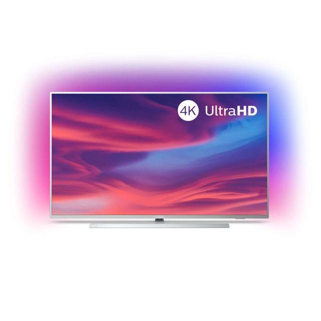 """PHILIPS TV LED 58"""" 146 cm - The One 58PUS7304/12 TV LED 58"""" 146 cm The One 58PUS7304/12 Philips, intégrant la fonction smart TV. Cet appareil est équipé d'une commande vocale IA et prend en charge les contenus HDR10+ et Dolby."""