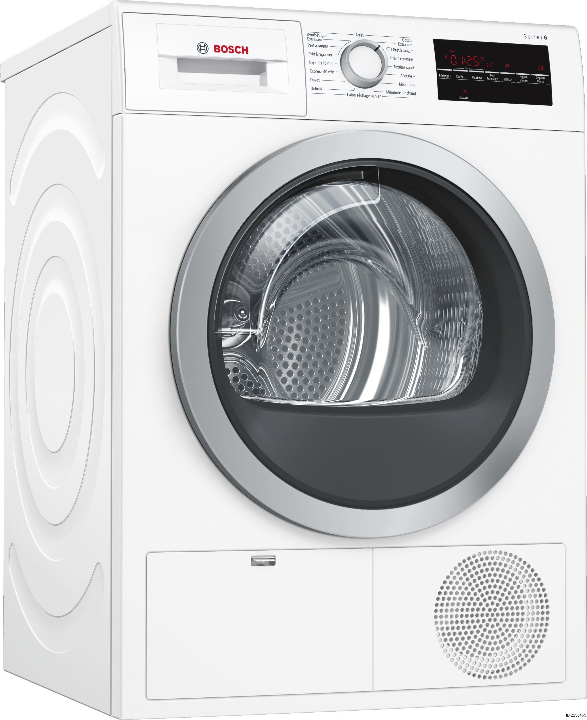 bosch s che linge condensation wtg86409ff blanc achat s che linge condensation b. Black Bedroom Furniture Sets. Home Design Ideas