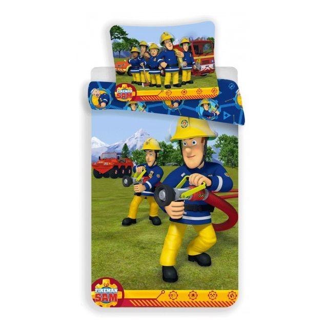 Sam Le Pompier - Alerte - Parure de lit Enfant - Housse de Couette Coton -  pas cher Achat   Vente Linge de lit enfant - RueDuCommerce 240f2a2588b9