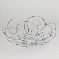 Table Passion - Coupe à fruit en inox cercles D.35xH.13cm Iron