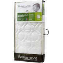 BELLEMONT - Matelas bébé ultra confort Bambou climatisé 70 x 140 cm blanc