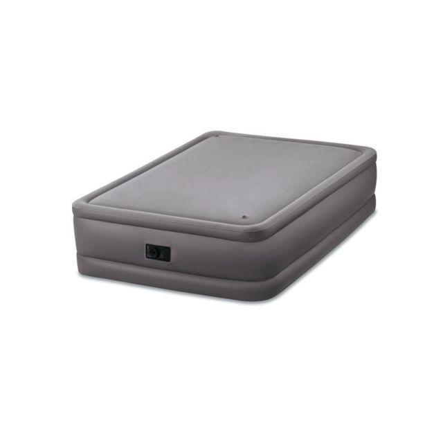 Intex Lit gonflable électrique 2 personnes Foam Top Bed Fiber-Tech